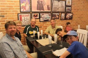 Enjoying a final dinner before departing from Cuba.